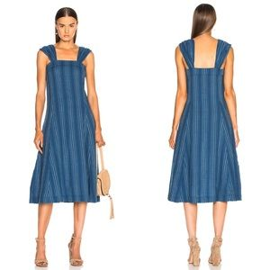 NWT The Great Sundown Stripe Midi Dress